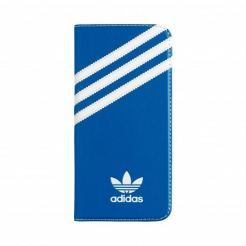 Adidas Originals Booklet Case - хоризонтален кожен калъф за Samsung Galaxy S7 Edge (син)