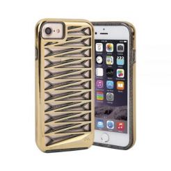 CaseMate Tough Layers Case - кейс с висока защита за iPhone 7, iPhone 6S, iPhone 6 (златист)