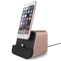 Verus New i-Depot Cradle - док станция за iPhone 7, 7 Plus, 6/6S, 6 Plus/6S Plus, iPhone 5/5S/5C/SE, iPad mini (всички поколения), iPad Air/Air 2, iPad Pro 9.7 (розово злато)