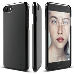 Elago S7 Slim Fit 2 Case + HD Clear Film - поликарбонатов кейс и HD покритие за iPhone 7 (черен-лъскав)