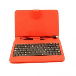 "Клавиатура калъф за таблет 7"", USB, червена"