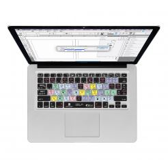 InDesign CS6 QWERTY Keyboard Cover - силиконова обвивка за Adobe InDesign CS6 за MacBook, MacBook Air и MacBook Pro