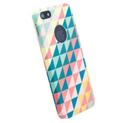 Krusell PrintCover Green Triangle - поликарбонатов кейс за iPhone 5