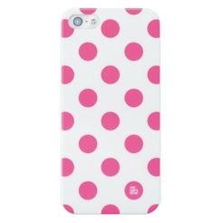 Pat Says Now Pink Polka Dot Case - дизайнерски кейс за iPhone 5
