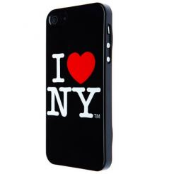 I love New York (I♥NY) Case - поликарбонатов кейс за iPhone 5 (черен)