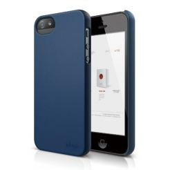 Elago S5 Slim Fit 2 Case + HD Clear Film - кейс и HD покритие за iPhone 5 (тъмносин-мат)