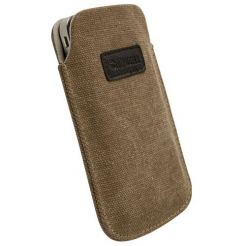 Krusell Uppsala Mobile Pouch 3XL - кожен калъф за Samsung Galaxy S4, HTC ONE, Sony Xperia V и др. (кафяв)