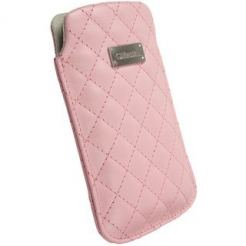 Krusell Avenyn Mobile Pouch XXL - кожен калъф за Samsung Galaxy S2, HTC Sensation, LG и смартфони (розов)