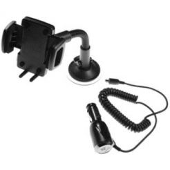 HTC Car Holder Kit CU G100 - поставка за кола със зарядно за HTC и мобилни устройства