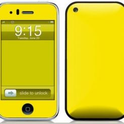 Solid State Yellow скин за iPhone 3G/3Gs