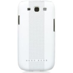 HUGO BOSS Dots Hardcover Black - луксозен кейс за Samsung Galaxy S4 i9500 (бял)