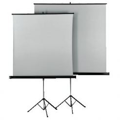 "Екран на стойка 125x125 cm, ""Tripod Projection Screen 125""Duo White/Silver с две лица"