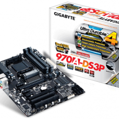 Дънна платка  GIGABYTE 970A-DS3P, AM3, 4xDDR3,2xPCI,  rev 1.0