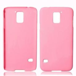 Protective Plastic Case - поликарбонатов кейс за Samsung Galaxy S5 SM-G900 (розов)