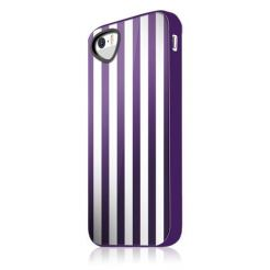 Itskins Killer Chic Chic WHPR Case - термополиуретанов калъф за iPhone 5S, iPhone 5 (бял-лилав)