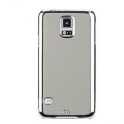 CaseMate Barely There - поликарбонатов кейс за Samsung Galaxy S5 SM-G900 (хромиран)