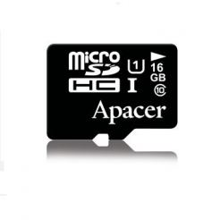 Apacer MicroSDHC 16GB UHS-I Memory Card - MicroSDHC памет за Samsung устройства (клас 10)