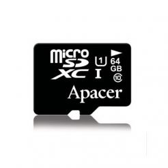 Apacer MicroSDXC 64GB UHS-I Memory Card - MicroSDXC памет за Samsung устройства (клас 10)