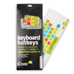 iCover Keyboard Hotkeys Apple Final Cut Pro X - силиконов протектор за Apple и MacBook клавиатури