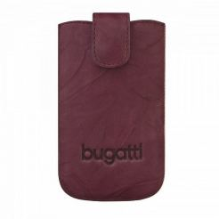 Bugatti SlimCase Unique Leather Case SL - кожен калъф за Motorola, Nokia, BlackBerry, Samsung, HTC и др. (бургунди)