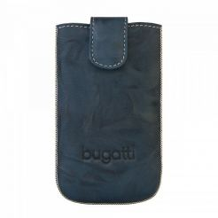 Bugatti SlimCase Unique Leather Case M - кожен калъф за iPhone, Motorola, Nokia, BlackBerry, Samsung, HTC и др. (син)