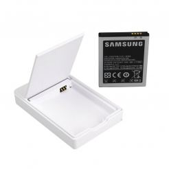 Samsung Extra Battery Kit EBH-1A2DGE - оригинална батерия 1650mAh и док станция за Galaxy S2 i9100 (бял)