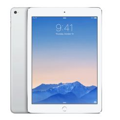 Apple iPad Air 2 Wi-Fi + 4G 128GB с ретина дисплей и A8 чип с 64 битова архитектура (бял-сребрист)