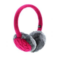 KitSound On-Ear Pink InLine Mic Audio Earmuffs - ушанки с вградени слушалки с 3.5 мм аудио жак и микрофон за iPhone и мобилни устройства (розов)