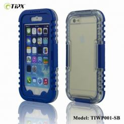 TIPX Waterproof Case - водо-, прахо- и удароустойчив кейс за iPhone 6/6S (син)