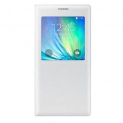 Samsung S-View Flip Case EF-CA700BW - оригинален кожен калъф за Samsung Galaxy A7 (бял)