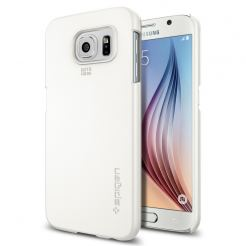 Spigen Thin Fit Case - качествен кейс за Samsung Galaxy S6 (бял)
