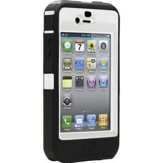 iphone 4 otterbox cases otterbox defender за iphone 4 бял черен на топ 2752