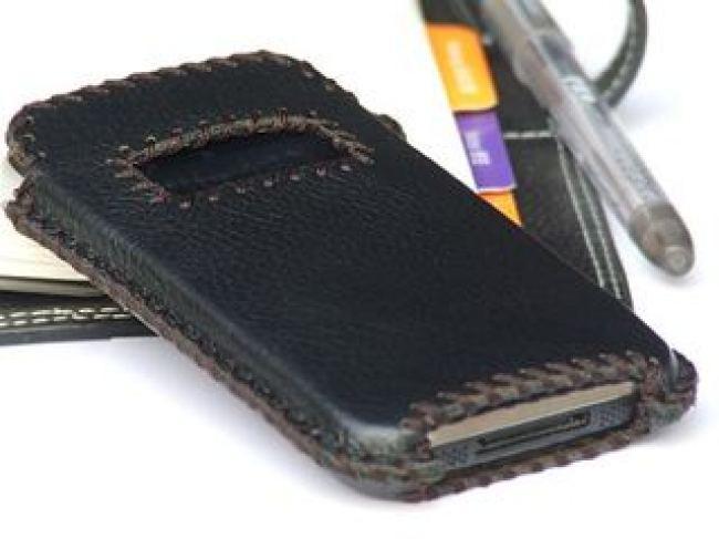 Isoft кожен калъф за iphone 4 iphone 3g 3gs черен