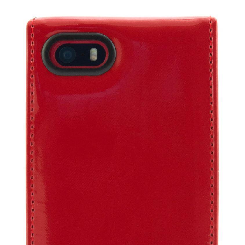 9e0bae021ec6c Proporta Ted Baker Patent Leather Flip Case - дизайнерски кожен флип кей за iPhone  SE