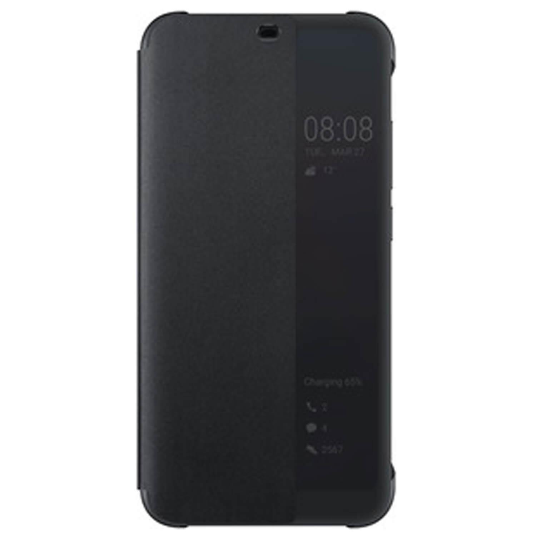 new product cba25 6cf0d Huawei Smart View Flip Cover - оригинален кожен калъф за Huawei Honor 10  (черен)