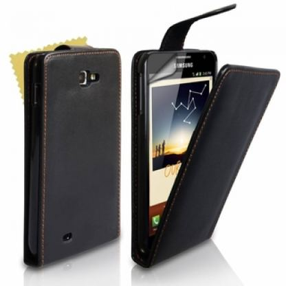 Flip-Case - кожен калъф за Samsung Galaxy Note N7000
