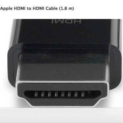 Apple HDMI to HDMI Cable - HDMI кабел за Macbooks (1.8 m)  2