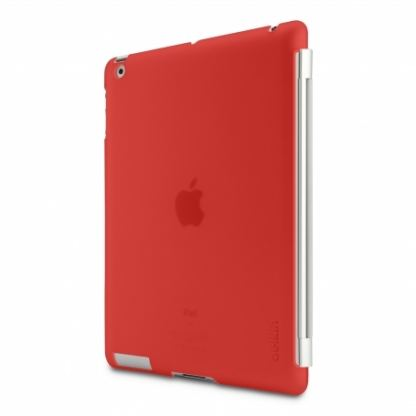 Belkin Snap Shield - кейс за iPad 3 (съвместим с Apple Smart cover) - червен