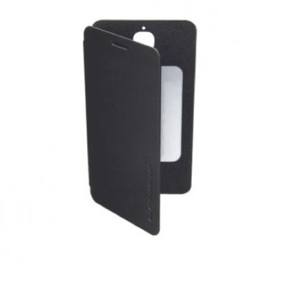 Alcatel Flipcover FC6030 - кожен кейс за Alcatel One Touch 6030 (черен) 2