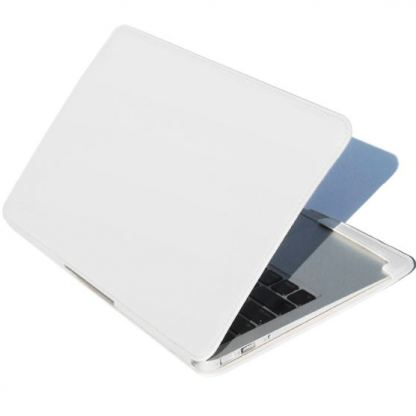 Hard Candy Covertible Case - кожен предпазен кейс за MacBook Air 11 инча (бял)
