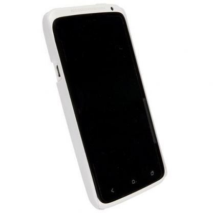 Krusell ColorCover - поликарбонатов кейс за HTC One X (бял)  2