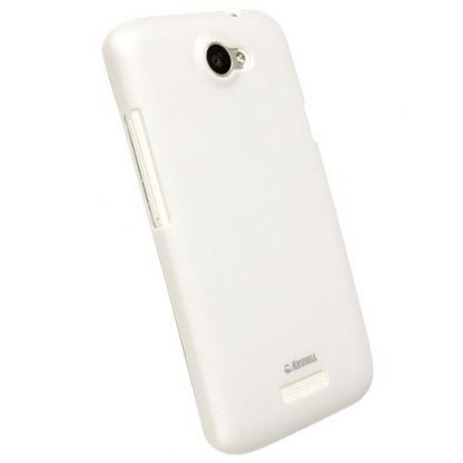 Krusell ColorCover - поликарбонатов кейс за HTC One X (бял)