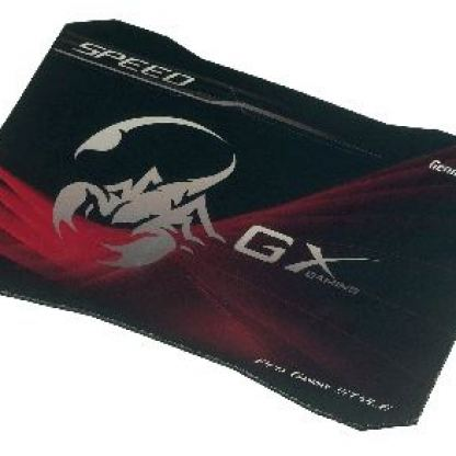 Подложка за мишка GENIUS GX SPEED - Soft gaming mouse pad 320 x 230 mm, slick cloth weave pad designed for precise and fast tracking during MMORPG or RTS gaming, 5 mm non-slip natural thick rubber padding for superb surface grip + подарък накитник GX 2