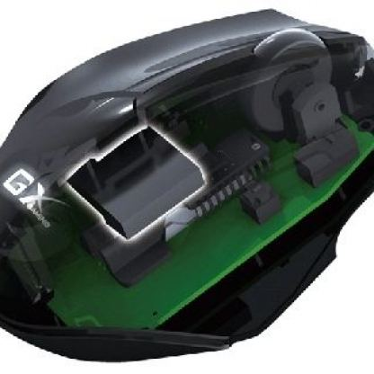 GX MAURUS - FPS professional gaming mouse, over-clocking SGCi: dpi in 450/900/1800/3500, response within 1ms, Scorpion UI can set macro key up to 21 macros, built-in metal weight 20 g, 1.8 meter braided cable with gold-plated USB connector + подарък flash 4