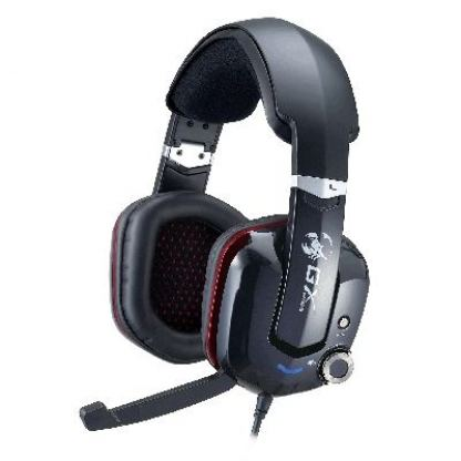 GX HS-G700V CAVIMANUS - Virtual 7.1 Channel Gaming Headset, 40mm neodymium driver units, gold-plated USB connector, vibration function, foldable microphone, 2.5m cable length  + подарък тениска GX