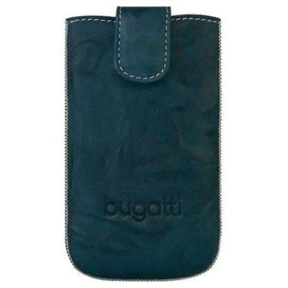 Bugatti SlimCase Unique Leather Case ML - кожен калъф за iPhone 5 (син)