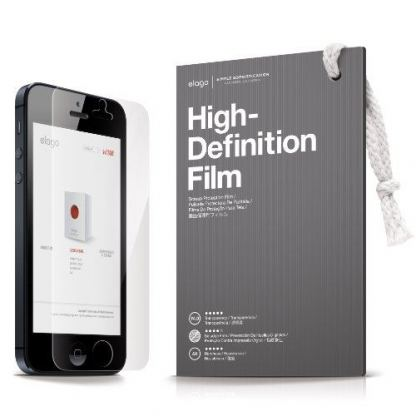 Elago S5 Slim Fit 2 Case + HD Clear Film - кейс и HD покритие за iPhone 5 (тъмночервен) 3