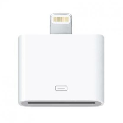 Apple Lightning to 30 pin Dock Connector - оригинален адаптер за iPhone 5, iPod Touch 5, iPod Nano 7
