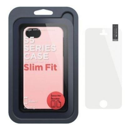 Elago S5 Slim Fit 2 Case + HD Clear Film - кейс и HD покритие за iPhone 5 (светлорозов) 6