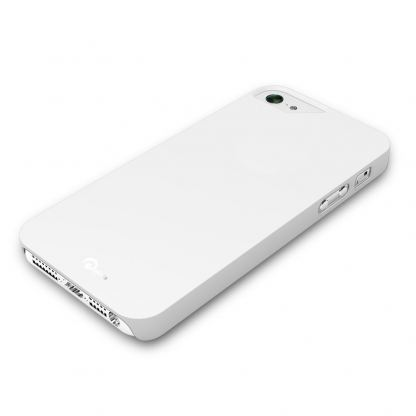Pinlo Rubber Slice - поликарбонатов кейс за iPhone 5 (бял) 2